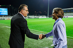 Ante Cacic, head coach of Maribor and Rodolfo Vanoli, head coach of Koper prior to the football match between FC Luka Koper and NK Maribor in 12th Round of Prva liga Telekom Slovenije 2013/14 on September 28, 2013 in Stadium Bonifika, Koper, Slovenia. (Photo by Vid Ponikvar / Sportida.com)