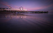 Sunset at South Parade Pier in Southsea, Hampshire.