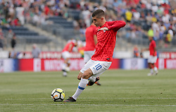 May 28, 2018 - Chester, PA, USA - Chester, PA - Monday May 28, 2018: Christian Pulisic during an international friendly match between the men's national teams of the United States (USA) and Bolivia (BOL) at Talen Energy Stadium. (Credit Image: © John Dorton/ISIPhotos via ZUMA Wire)