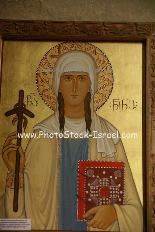Georgia, Mtskheta, Interior of the Jvari Church, Church of the Holy Cross