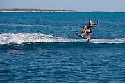 Peter Vasquez riding the sky ski