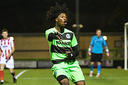 Forest Green Rovers Daniel Ogunleye(11) during the FA Youth Cup match between U18 Forest Green Rovers and U18 Cheltenham Town at the New Lawn, Forest Green, United Kingdom on 29 October 2018.