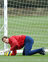 Photo: Javier Garcia/Back Page Images Mobile +447887 794393<br />Arsenal FC UEFA Champions League Training, London Colney, 06/12/04<br />Jens Lehmann in training