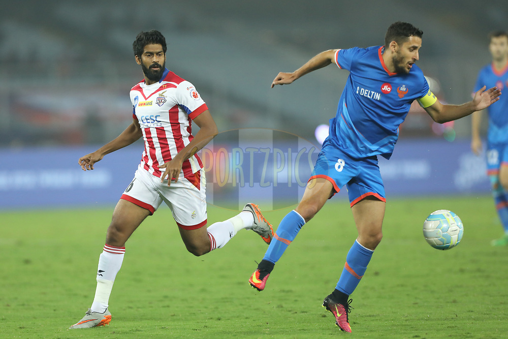 Ferran Corominas Telechea of FC Goa  during match 37 of the Hero Indian Super League between ATK and FC Goa held at the Vivekananda Yuba Bharati Krirangan Stadium, Kolkata, India on the 3rd January 2018<br /> <br /> Photo by: Arjun Singh  / ISL / SPORTZPICS