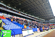 Preston North End fans during the Sky Bet Championship match between Bolton Wanderers and Preston North End at the Macron Stadium, Bolton, England on 12 March 2016. Photo by Pete Burns.