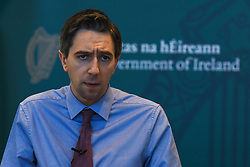 March 28, 2019 - Dublin, Ireland - Simon Harris, Minister for Health,  speaking at the publication of a report on strengthening care for sexual assault victims and the announcement of additional funding for sexual assault treatment units, at the Department of Health in Dublin. .On Thursday, March 28, 2019, in Dublin, Ireland. (Credit Image: © Artur Widak/NurPhoto via ZUMA Press)