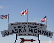 © 2008 Randy Vanderveen, all rights reserved.Dawson Creek, British Columbia.A sign marks the beginning (Mile 0) of the Alaska Highway in Dawson Creek, B.C..