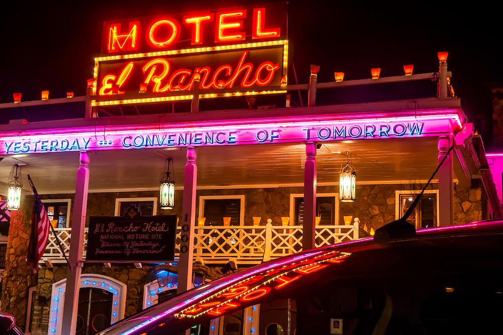 Hotel El Rancho, Route 66, Gallup, New Mexico USA.