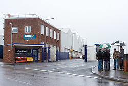 © Licensed to London News Pictures. 29/03/2018. Bristol, UK. The entrance to the GKN site at Filton in Bristol. The future of aerospace company GKN will be revealed this afternoon when the votes of shareholders become known. GKN, which employs more than 1500 staff at Filton and another 350 near Avonmouth near Bristol, is facing a hostile takeover from Melrose Investment. Trade unions say Melrose would split the business up and sell it for profit. The UK Government say they have obtained pledges from Melrose not to sell GKN for at least five years. Photo credit: Simon Chapman/LNP
