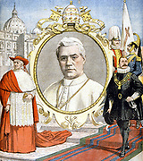 Pius X (Guiseppe Sarto 1835-1914) Pope from 1903. From 'Le Petit Journal', 16 August 1903.
