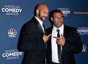 Keegan-Michael Key and Jordan Peele attend the 2014 American Comedy Awards at the Hammerstein Ballroom in New York City, New York on April 26 2014.