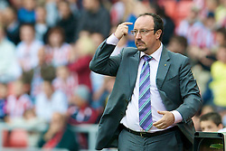 SUNDERLAND, ENGLAND - Saturday, August 16, 2008: Liverpool's manager Rafael Benitez during the opening Premiership match of the season against Sunderland at the Stadium of Light. (Photo by David Rawcliffe/Propaganda)