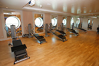Royal Caribbean International's  Independence of the Seas, the world's largest cruise ship...Fitness centre