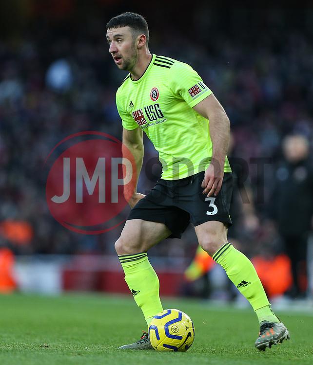 Enda Stevens of Sheffield United on the ball - Mandatory by-line: Arron Gent/JMP - 18/01/2020 - FOOTBALL - Emirates Stadium - London, England - Arsenal v Sheffield United - Premier League
