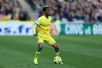 Chaker ALHADHUR - 05.04.2015 - Nantes / Caen - 31eme journee de Ligue 1<br />Photo : Vincent Michel / Icon Sport