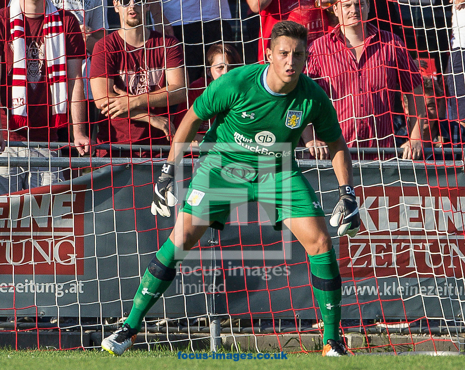 Pierluigi Gollini of Aston Villa during the pre season friendly match at Sportcentre Weinzoedl, Graz, Austria.<br /> Picture by EXPA Pictures/Focus Images Ltd 07814482222<br /> 09/07/2016<br /> *** UK &amp; IRELAND ONLY ***<br /> EXPA-IES-160709-0017.jpg