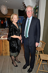 DAVID & CLARE ASTOR at a Fondue evening hosted by Rose van Cutsem and her brother Tom Astor to celebrate the new ski Season with leading ski resort Meribel, Besson Clothing and ESF ski schools at Maggie & Rose, 58 Pembroke Road, London on 7th November 2016.