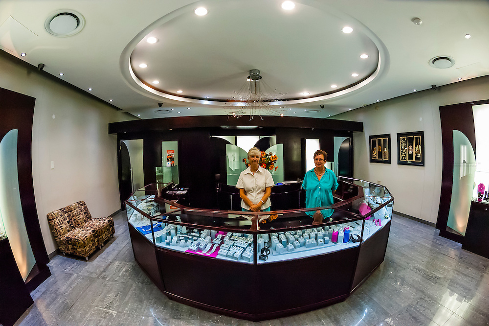 Jewelry store at the Big Hole, an open-pit and underground diamond mine, Kimberley, South Africa.