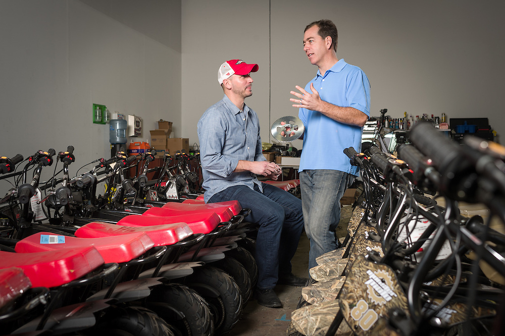 01/14/2016 123522 -- Garland, TX -- &copy; Copyright 2016 Mark C. Greenberg<br /> <br /> CEO Alex Keechle and President and COO Rick Sukkar of Garland, Texas based Monster Moto.