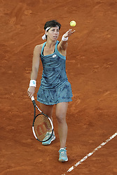 May 6, 2019 - Madrid, Spain - Carla Suarez Navarro of Spain in her match against Viktoria Kuzmova of Slovakia during day three of the Mutua Madrid Open at La Caja Magica on May 06, 2019 in Madrid, Spain. (Credit Image: © Oscar Gonzalez/NurPhoto via ZUMA Press)