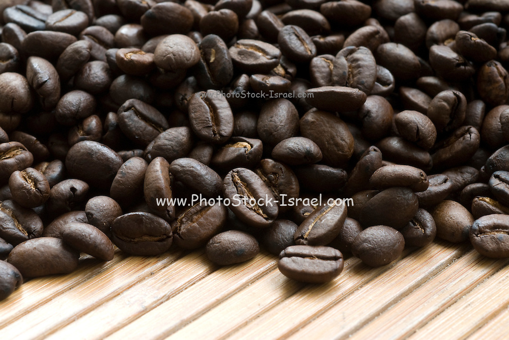 Close up of a pile of roasted Coffee Beans