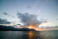 """The view of """"Bali Hai"""" from the terrace bar at the Princeville Resort is a popluar place to watch the sunset on the North Shore of Kauai"""