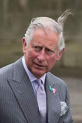 © Licensed to London News Pictures . 14/05/2015 . Liverpool , UK . The Prince or Wales arrives for a visit to the World Museum in Liverpool . Photo credit : Joel Goodman/LNP