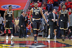 14 January 2017:  Darral Willis Jr., Shaquille Morris and Zach Brown during an NCAA  MVC (Missouri Valley conference) mens basketball game between the Wichita State Shockers the Illinois State Redbirds in  Redbird Arena, Normal IL