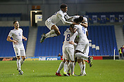 England players celebrate going 2-1 up  during the UEFA European Championship Under 21 2017 Qualifier match between England and Switzerland at the American Express Community Stadium, Brighton and Hove, England on 16 November 2015. Photo by Phil Duncan.