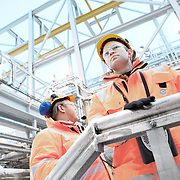 Corporate photography on gas processing plant in Norway