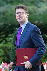 Downing Street, London, September 13th 2016. Secretary of State for Business, Energy and Industrial Strategy Greg Clark arrives for the weekly cabinet meeting at Downing Street.