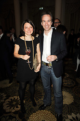 Chef MARCUS WAREING and his wife JANE at the Tatler Restaurant Awards, at the Langham Hotel, Portland Place, London n 10th May 2010.