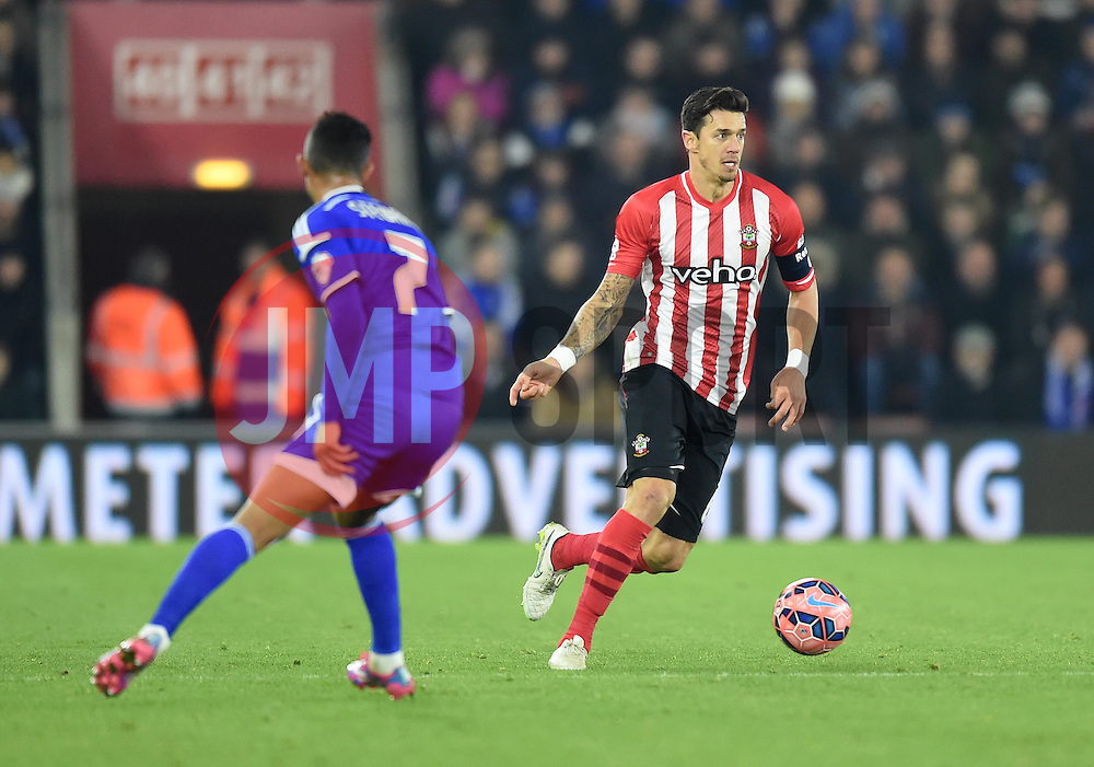 Southampton captain Jose Fonte  in action against Ipswich Town- Photo mandatory by-line: Paul Knight/JMP - Mobile: 07966 386802 - 04/01/2015 - SPORT - Football - Southampton - St Mary's Stadium - Southampton v Ipswich Town - FA Cup Third Round