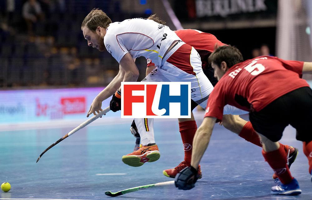 BERLIN - Indoor Hockey World Cup<br /> Men: Switzerland - Belgium<br /> foto: <br /> WORLDSPORTPICS COPYRIGHT FRANK UIJLENBROEK