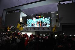24.10.2010, Korea International Circuit, Yeongam, KOR, F1 Grandprix of Korea, im Bild  .Podium - Lewis Hamilton (GBR), McLaren F1 Team - Fernando Alonso (ESP),  Scuderia Ferrari - Felipe Massa (BRA), Scuderia Ferrari, EXPA Pictures © 2010, PhotoCredit: EXPA / InsideFoto / Hasan Bratic ***ATTENTION FOR AUSTRIA AND SLOVENIA USE ONLY***