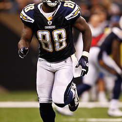 August 27, 2010; New Orleans, LA, USA; San Diego Chargers tight end Kris Wilson (88) during the first half of a preseason game at the Louisiana Superdome. The New Orleans Saints defeated the San Diego Chargers 36-21. Mandatory Credit: Derick E. Hingle