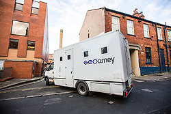 © Licensed to London News Pictures. 16/02/2017. Leeds UK. Picture shows prison vans arriving at Leeds Crown Court this morning. A 15 year old girl is due to appear at Leeds Crown Court this morning charged with the murder of 7 year old Katie Rough who was found seriously injured on a playing field in the Woodthorpe area of York on January 9th, she was taken to hospital but died later that evening. Photo credit: Andrew McCaren/LNP