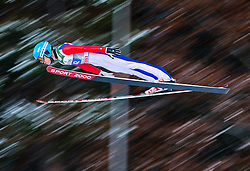 06.01.2015, Paul Ausserleitner Schanze, Bischofshofen, AUT, FIS Ski Sprung Weltcup, 63. Vierschanzentournee, Probedurchgang, im Bild Ilmir Hazetdinov (RUS) // Ilmir Hazetdinov of Russia soars trought the air during his Trial Jump for the 63rd Four Hills Tournament of FIS Ski Jumping World Cup at the Paul Ausserleitner Schanze, Bischofshofen, Austria on 2015/01/06. EXPA Pictures © 2015, PhotoCredit: EXPA/ Johann Groder