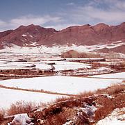 8 January 1963<br /> Kabul. Fields outside Malik Khel LD. Snow covered fields.