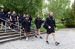 Gareth Steenson and the rest of the Exeter Chiefs team arrive at Allianz Park - Mandatory byline: Patrick Khachfe/JMP - 07966 386802 - 04/05/2019 - RUGBY UNION - Allianz Park - London, England - Saracens v Exeter Chiefs - Gallagher Premiership Rugby