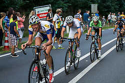 Rhenen, The Netherlands - Dutch Food Valley Classic (UCI 1.1) - 23th August 2013 - Topsport rider having a hard time in the leading group