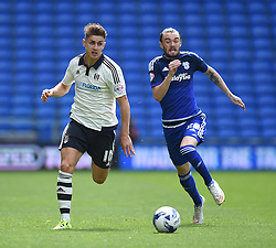 Tom Cairney of Fulham is pursued by Scott Malone of Cardiff City - Mandatory by-line: Paul Knight/JMP - Mobile: 07966 386802 - 08/08/2015 -  FOOTBALL - Cardiff City Stadium - Cardiff, Wales -  Cardiff City v Fulham - Sky Bet Championship