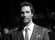 Actor Matthew McConaughey poses for photographers upon arrival at the premiere of the film Interstellar, in central London, Wednesday, Oct. 29, 2014. (Photo by Joel Ryan/Invision/AP)