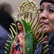 The Feast Our Lady of Guadalupe celebration annual two-day feast celebration of Mexico's patron saint. Believers from the Chicago area gather day and night to pay homage at the shrine.  Photography by Jose More