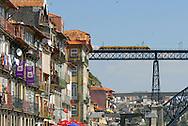 Luis Bridge. Ponte D.Luis. Douro River, Street scenes from Porto