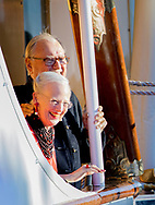 Copenhagen, 28-08-2017<br /> <br /> <br /> Prins Nikolais 18th birthday celebration at The Dannebrog. Arrival members of the Royal Family at the Amalie Harbour Copenhagen.<br /> <br /> PUBLICATION ONLY IN FRANCE<br /> <br /> Royalportraits Europe/Bernard Ruebsamen