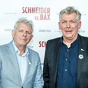 NLD/Amsterdam/20150525 - Premiere Schneider & Bax, Alex van Warmerdam (L) en broer Marc van Warmerdam (R)