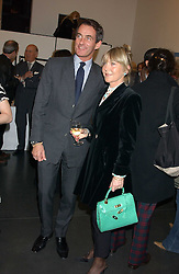 TIM JEFFERIES and ROSEMARY, MARCHIONESS OF NORTHAMPTON at a private view of paintings by Rosita Marlborough (The Duchess of Marlborough) held at Hamiltons gallery, Carlos Place, London W1 on 9th November 2005.<br />