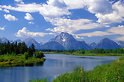 Image of Mt. Moran and the Snake River at Grand Teton National Park, Wyoming, Pacific Northwest