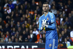 February 28, 2019 - Valencia, Spain - Jaume Domenech of Valencia CF  During Spanish King La Copa match between  Valencia cf vs Real Betis Balompie Second leg  at Mestalla Stadium on February 28, 2019. (Photo by Jose Miguel Fernandez/NurPhoto) (Credit Image: © Jose Miguel Fernandez/NurPhoto via ZUMA Press)